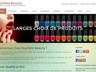 E-commerce - www.dayfieldbeauty.com