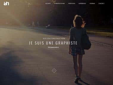 Set up site for graphist - www.angelique-hersard.fr