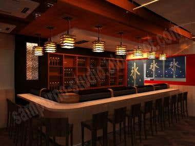 sushi bar and restaurant