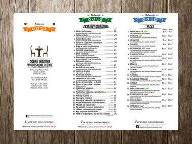 Projekt menu dla restauracji | Poligrafia
