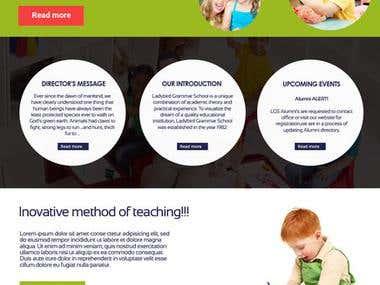 Lady Bird Grammer School Website Mockup