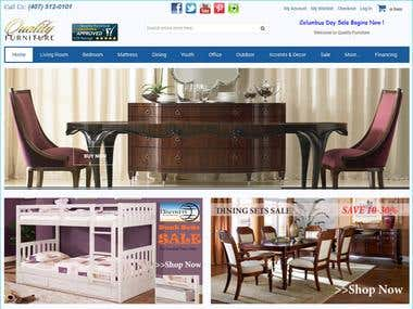 Magento based Furniture Store
