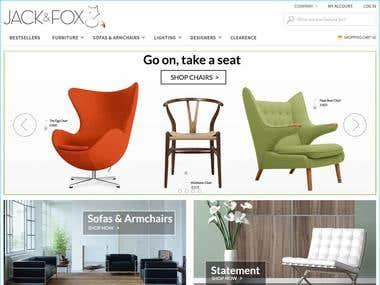 Furniture web shop using Magento