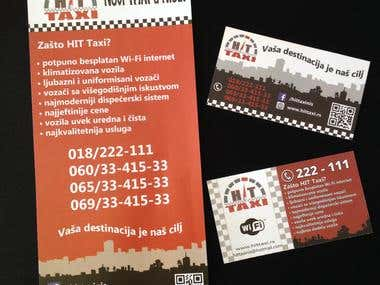 Taxi Business Card & Flyer