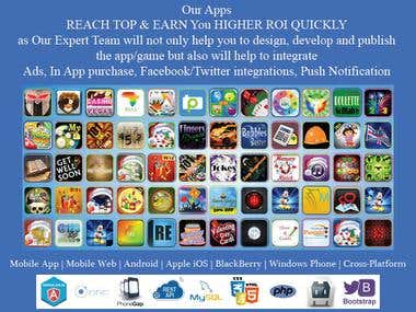 150+ Apps Expert in Mobile strategy design & development