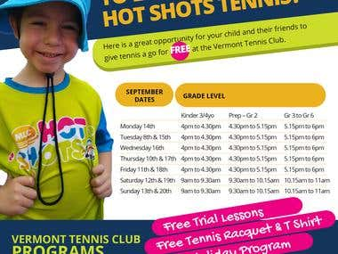 Flyer for Tennis Club