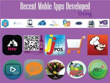 Recent Mobie Apps Developed using Ionic Angular.js Cordova