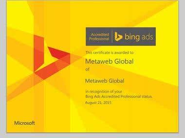 Bing Adword Certificate