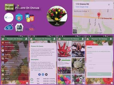 Mobile App for Flowers on Onewa