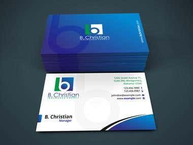 B. Christian Insurance Agency - Business card design