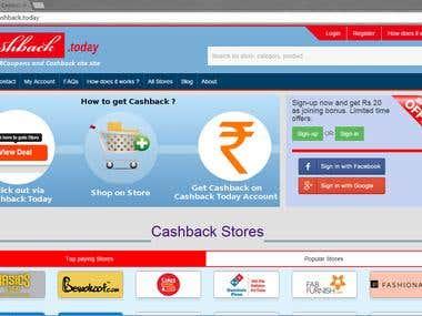 Cashback Today - cashback site