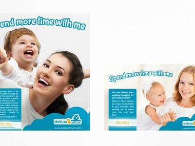 Ad web banners and roll up banner