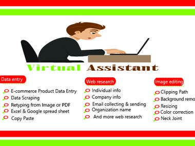 virtual assistant for Admin work