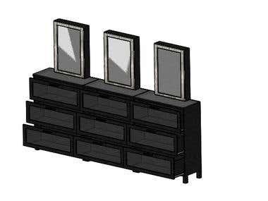 Makeup cabinet design