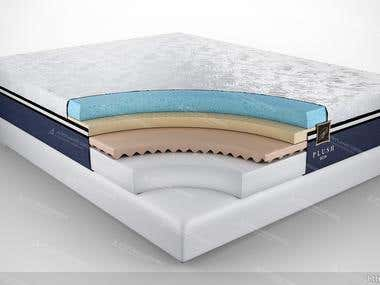 Mattress 3D visualization