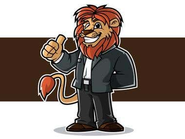 Lion Businessman