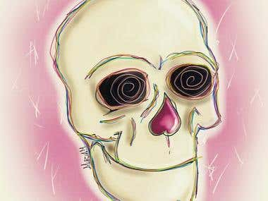 Lollipop skull