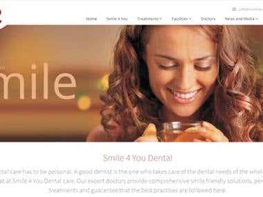 Bootstrap Website -  Smile 4 You Dental