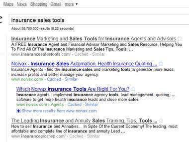 Insurance Sales Tools