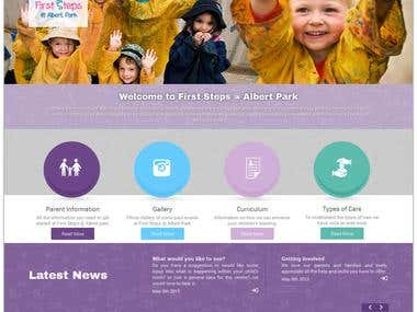 The First Step Albert Park custom coded Wordpress