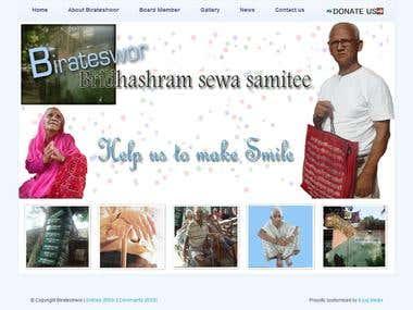 Website Created with Wordpress