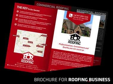 Brochure Design for Roofing Business