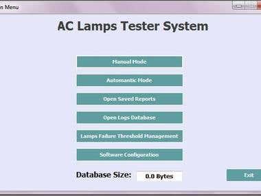 Lamps Lifetime tester sw (C# & Electronics Circuits)