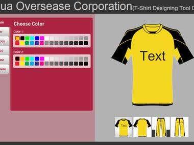 Online T-Shirt Designing Tool