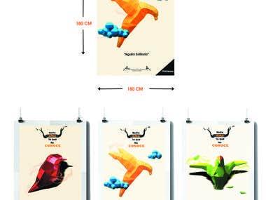 Elaboración publicidad gráfica para museo de las aves mexico