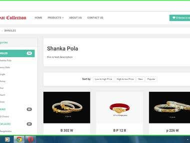 Jewellery shopping site with responsive design