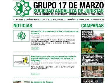 Grupo 17 de Marzo's web