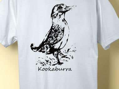 Kookaburra Australia, Tshirt Design for Sictees Australia