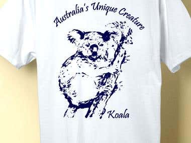 Koala, Tshirt Design for Sictees Australia