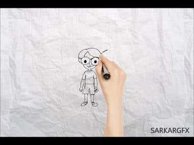 Line Animation - Naughty Chintu