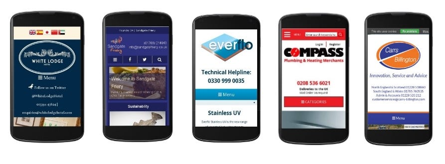 Mobile and Tablet Responsive Websites