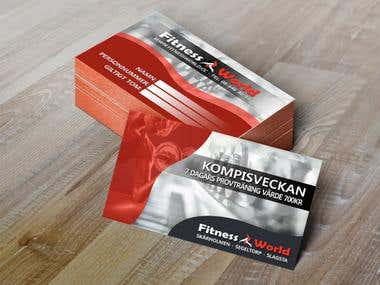 Fitness World Business Card