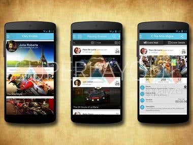 Sports Event App Design
