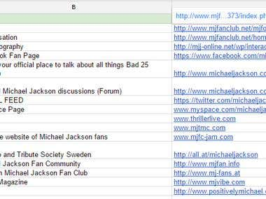 Earth Song (Michael Jackson) List Generation