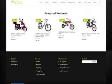 Online Shopping store for GreenPowerSports