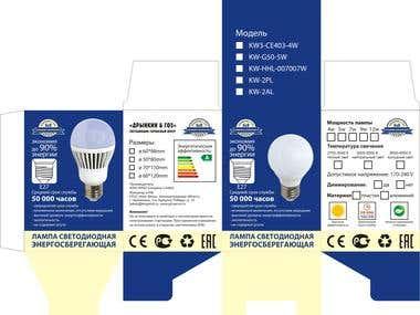 packaging for LED lamp