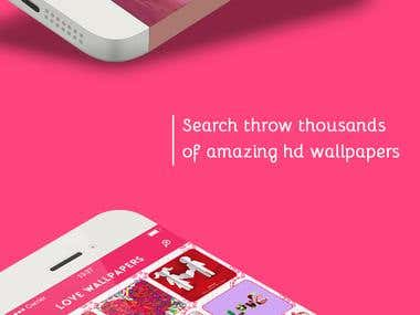 Love Wallpapers (ui design)