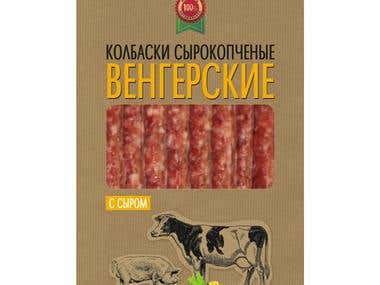 packaging for sausages