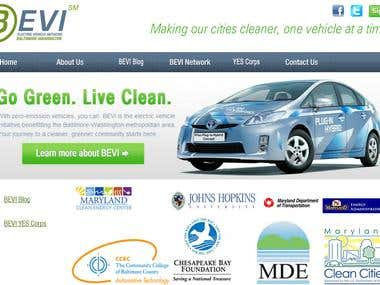 Bevi Website Design
