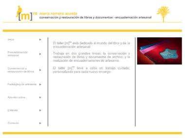 MRA Encuadernacin Artesanal's web