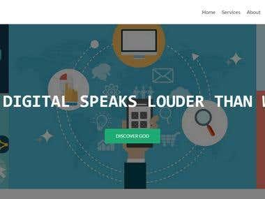 Digital Marketing Responsive Site