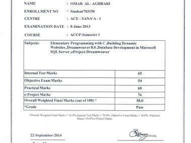 Certificate of Proficiency in Systems Management (CPISM)-S.1
