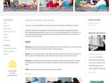 WordPress based School Website