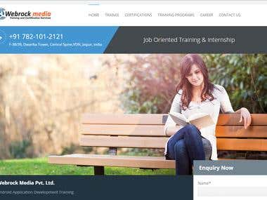 Training institute wordpress website.
