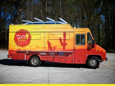 Tex Taco\'s Food Truck Menu Design