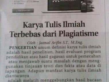 Karya Tulis Ilmiah terbebas dari plagiatisme